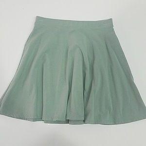 Light sage green skater circle skirt sz S